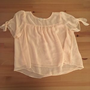 Forever 21 sheer baby pink top